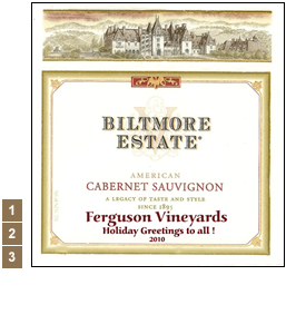 Vineyard Designs Personalized Cheese Boards Label Biltmore