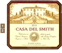 Vineyard Designs Personalized Cheese Board Everyday Label Toscana