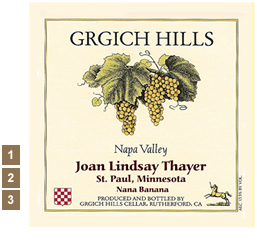 Vineyard Designs Personalized Cheese Boards Label GrGich Hills